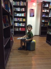 We chanced upon a bookstore our first night in Yangon, and Nyan wanted to sit in there and browse for a while.